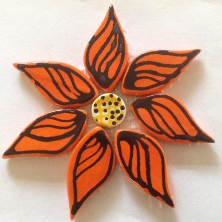 121flower-on-mesh-110mm-orange