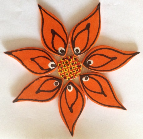 122-flower-on-mesh-large-170mm-orange