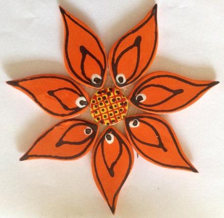 122-flower-on-mesh-large-170mm-orange