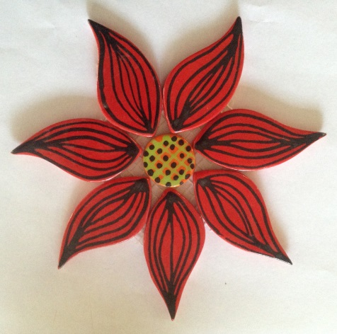 122-flower-on-mesh-large-170mm-red
