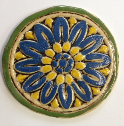 535-flower-tile-blue-and-yellow