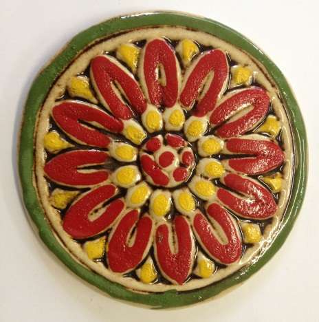 535--flower-tile-red-and-yellow