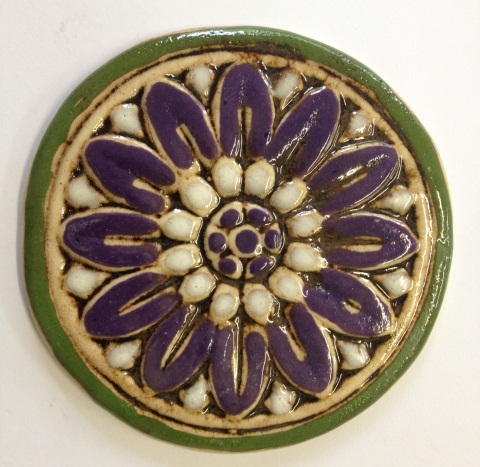 535--flower-tile--purple-and-white