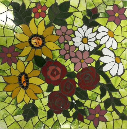 Cutting flowers with ceramic tiles, Trunell Vanderbijlpark-8July ...