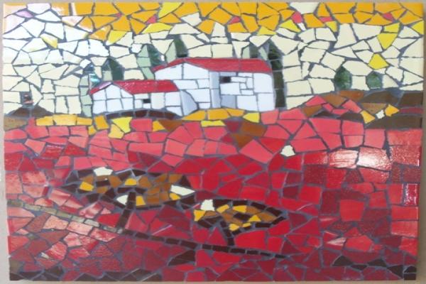 Landscape mosaic with ceramic tiles, Trunell Vanderbijlpark - 18 ...